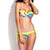 Palm Printed Push-Up Bandeau Top Bikini set | Emprada