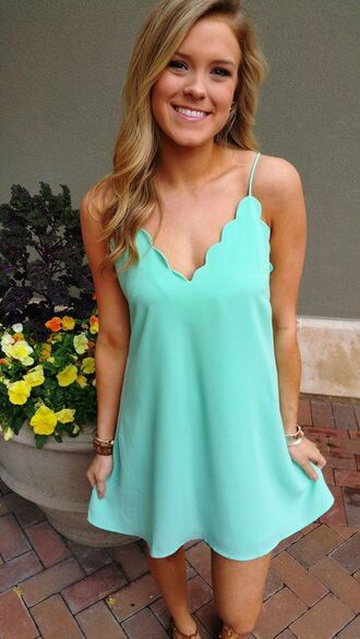 dress scalloped scalloped dress