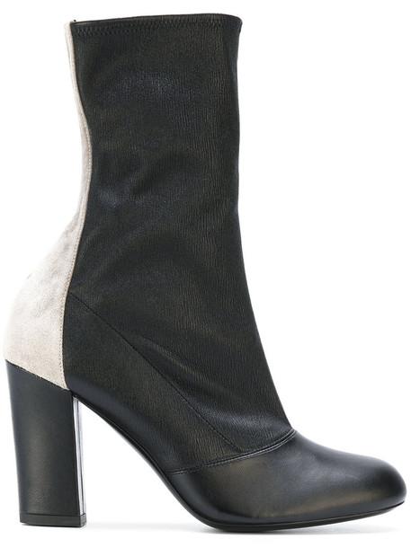 Michel Vivien women leather suede black shoes