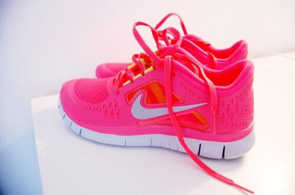 Nike Free Run 3 Hot Punch Neon Pink Volt