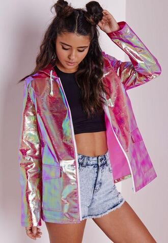 coat raincoat glitter