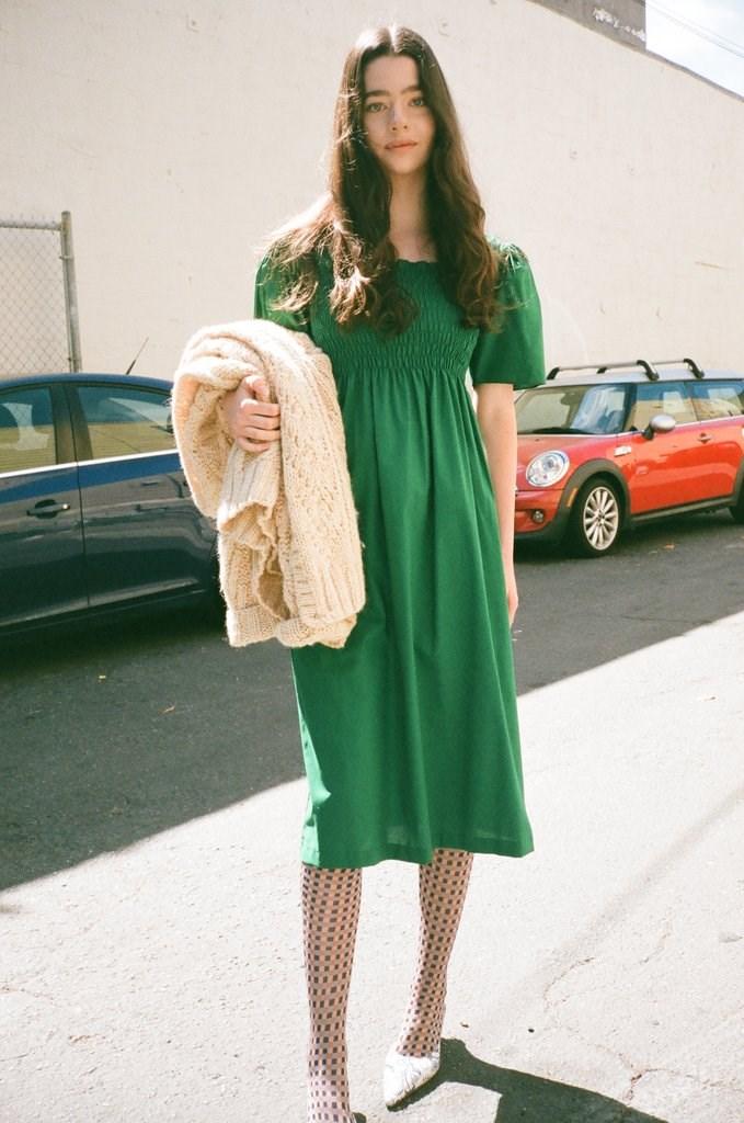 Toni Midi Dress - Emerald
