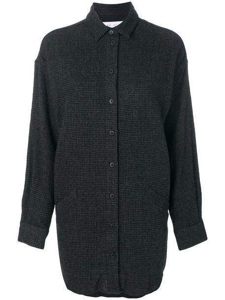 Iro shirt printed shirt long women cotton black wool top
