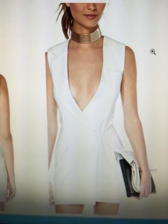 dress balmain inspired white dress blazer dress