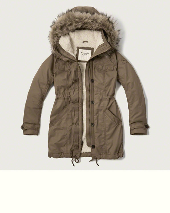 Sherpa Lined Military Parka