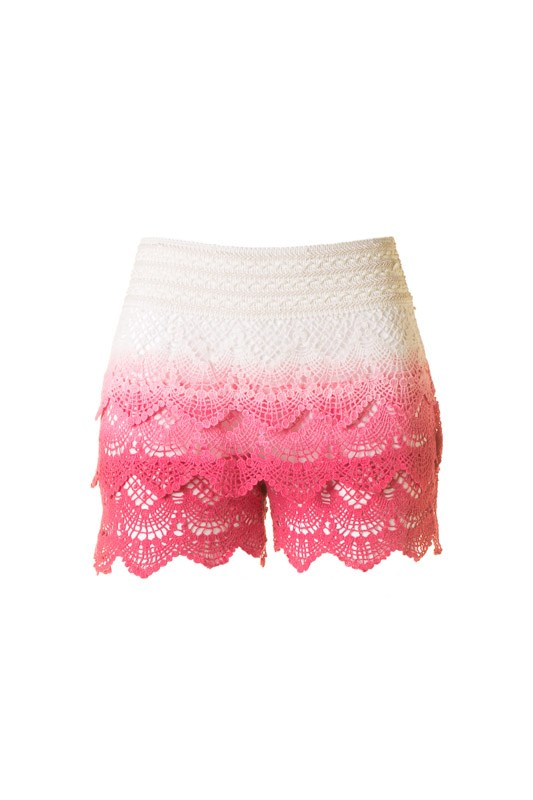 Ombre Crochet Shorts