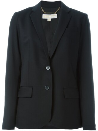 blazer women spandex black wool jacket