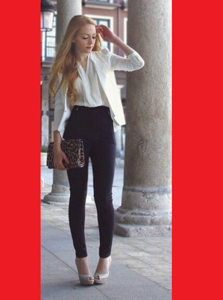 Pants skinny pants skinnys black fashion outfit look lookbook high waisted jeans black ...
