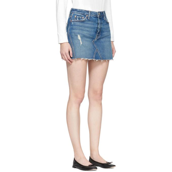 Grlfrnd - Blue Denim Eva Miniskirt