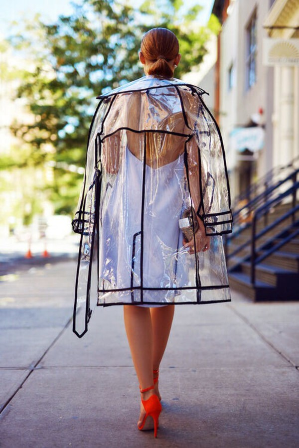 New Clear See Through Vinyl Raincoat Transparent Pvc Mac