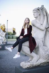 white rabbit dreams,blogger,coat,blouse,pants