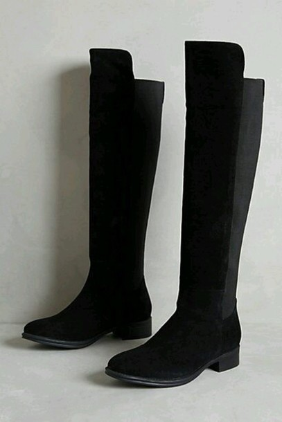 shoes black boots suede boots riding boots anthropologie fall outfits boots winter outfits knee high boots style fashion winter boots swayed