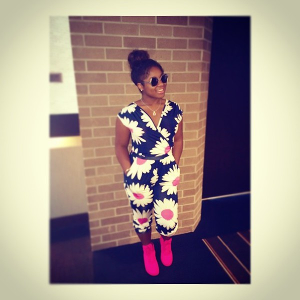 jumpsuit lil wayne daughter flowers reginae carter floral floral pants