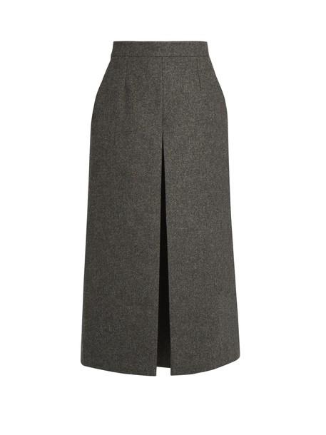 culottes wool grey pants