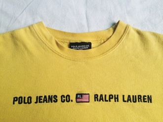 t-shirt ralph lauren yellow polo shirt