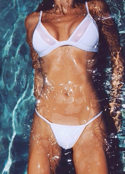 swimwear bikini sheer bikini, white, swim wear, perfect sheer, panels, white, cutout triangle bikini white mesh cute water summer outfits pool tan