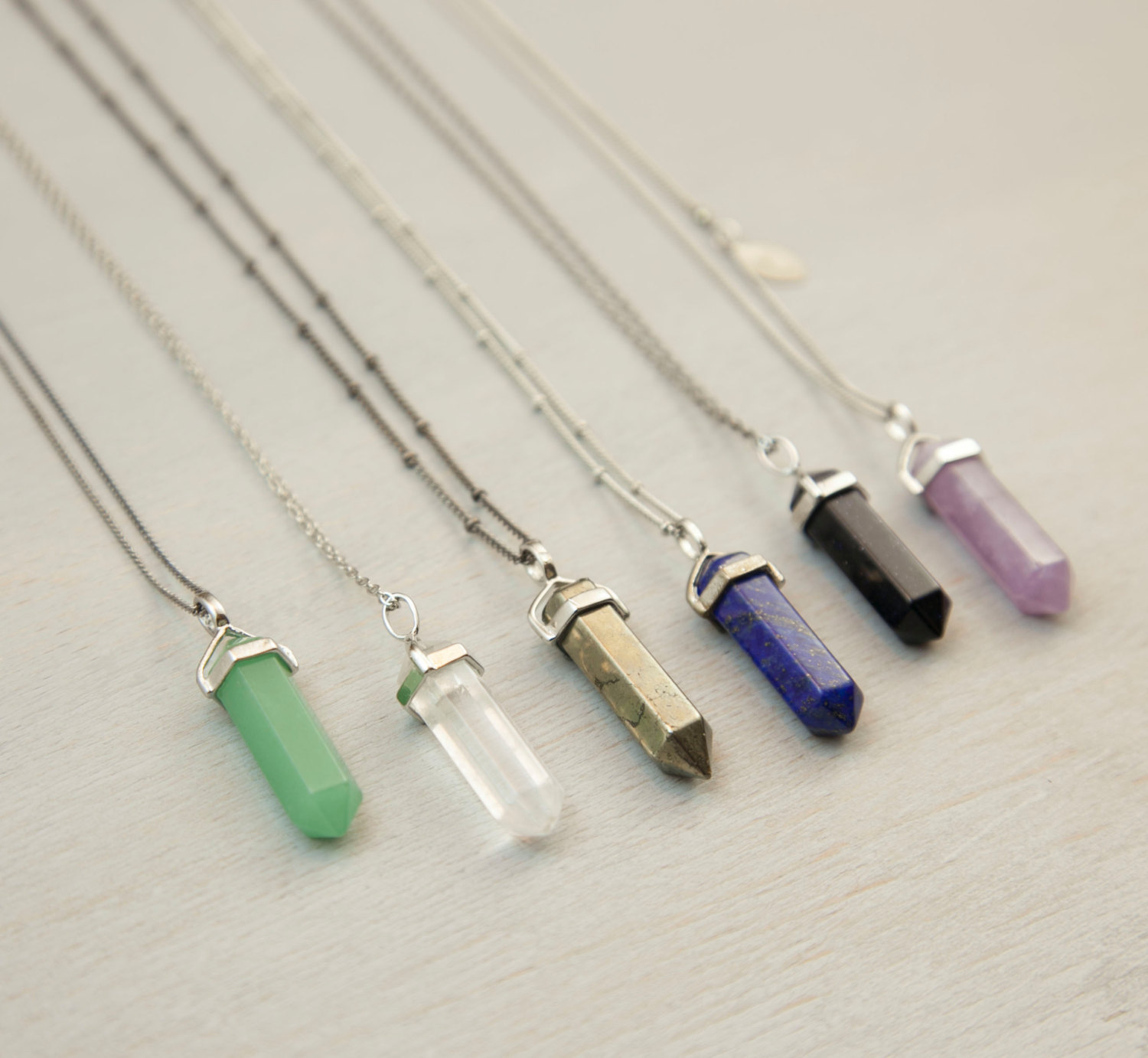 Crystal point long necklace long chakra crystal pendant necklace crystal point long necklace long chakra crystal pendant necklace natural stone crystal point with aloadofball Image collections