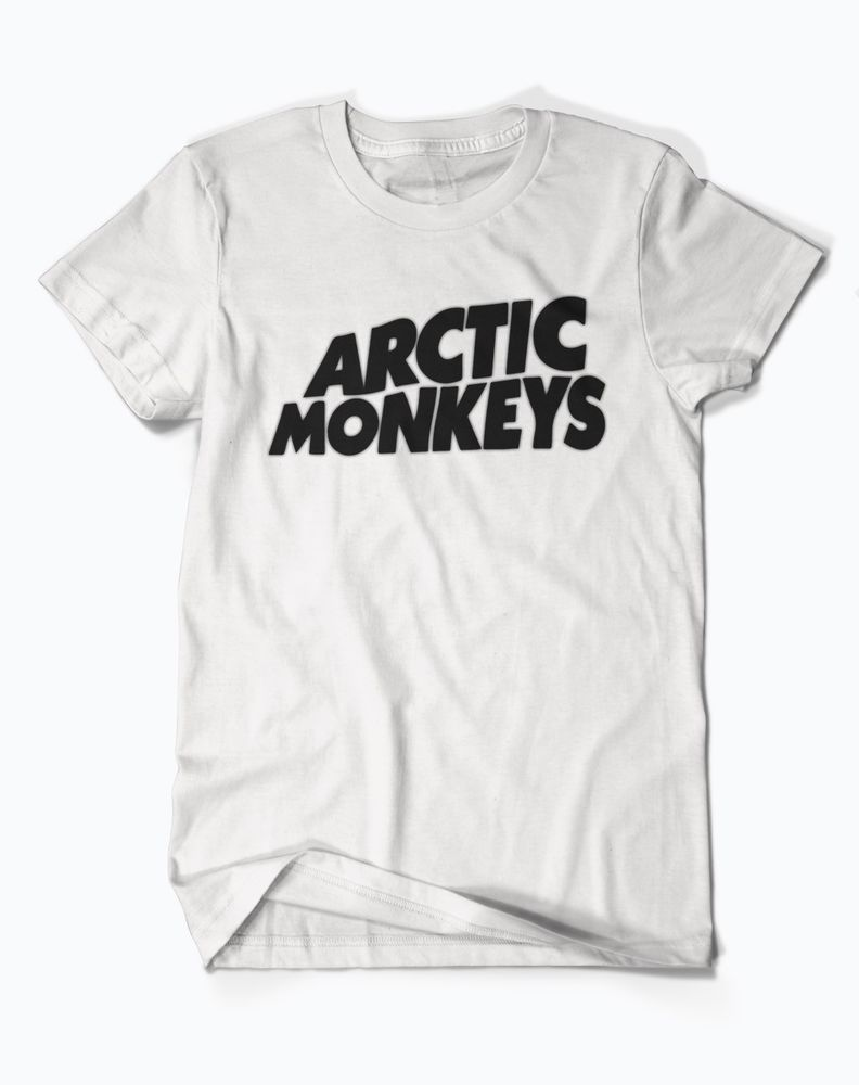 Logo Arctic Monkeys White T Shirt Available Size s to XXL ANDISHOP99 | eBay