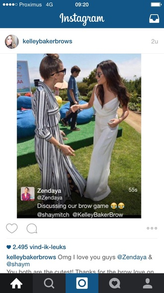 dress zendaya striped dress white dress black dress long dress long sleeve dress