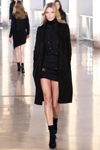 dress coat karlie kloss fashion week 2015
