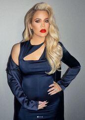 dress,coat,navy,navy dress,khloe kardashian,kardashians,instagram,cut-out dress