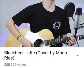 shirt black white manu rios rad sad youtuber singer top t-shirt black and white white top black top