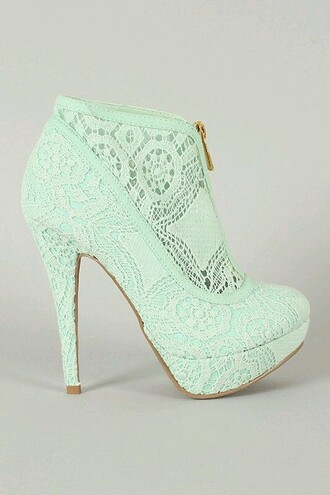 shoes high heels sexy pumps feminine turquoise heels crochet heels cute heel turquoise