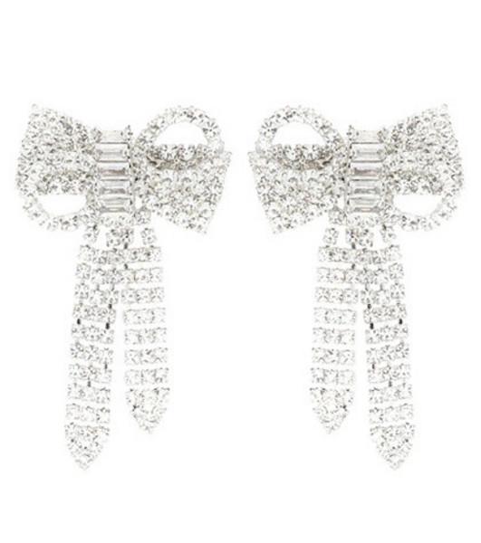 Jennifer Behr Lola bow earrings in silver