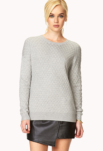 Modernist Quilted Sweater | FOREVER21 - 2000070341