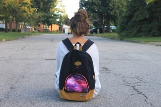 bag galaxy black backpack