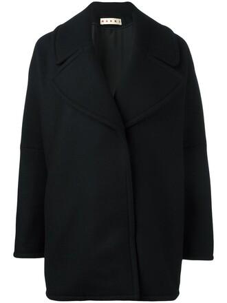 jacket oversized women black silk wool