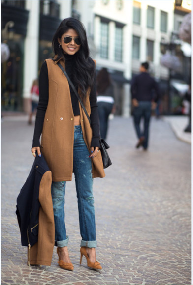sleeveless navy camel coat camel tan jacket coat detachable