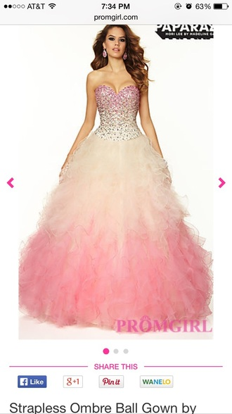 ombre prom dress prom gown ball gown dress long prom dress rhinestones