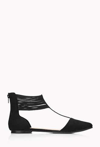 Modernist T-Strap Flats | FOREVER21 - 2000111981
