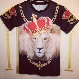 lion king the lion king chain gold chaons black and gold t-shirt t-shirt mane lion mane yas yaaassss