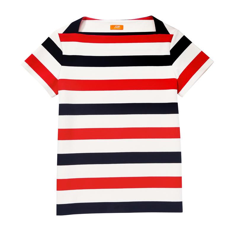 Stripe Ponte Tee - Red | Tops | Women | JOEFRESH.COM