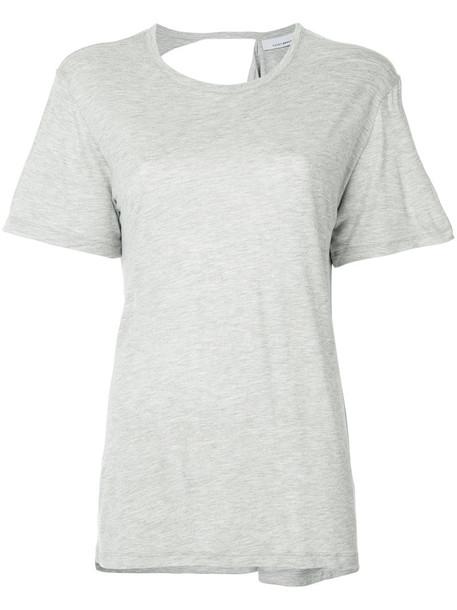Kacey Devlin t-shirt shirt t-shirt women spandex grey top