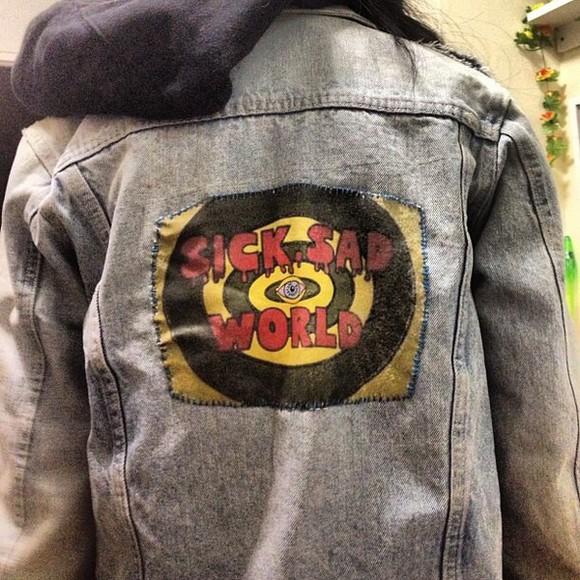 jacket daria denim acid sick rad