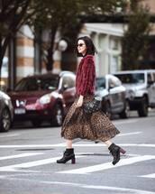 jacket,faux fur jacket,midi skirt,leopard print,mesh,shoulder bag,boots,leather boots,sunglasses