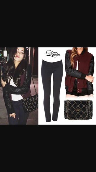 jacket burgundy sweater black leather jacket