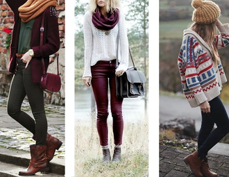 jeans burgundy bottoms sweater winter sweater bag jewels scarf white black leather shoes shirt jacket fall outfits cherry white sweater purse cute