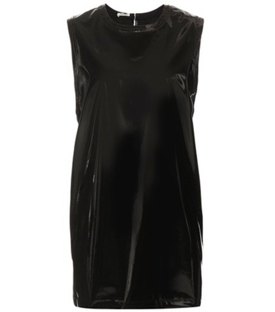 Miu Miu dress leather dress leather black