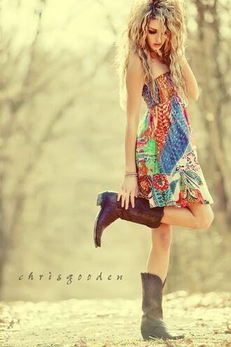 multi colored dress dress
