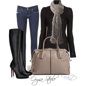 bag leather beige purse black shorts shoes knee high boots