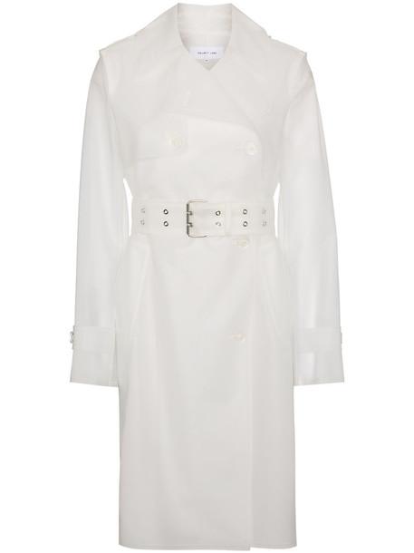Helmut Lang coat trench coat matte women white