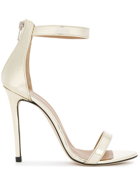 Marc Ellis ankle strap women sandals leather grey metallic shoes
