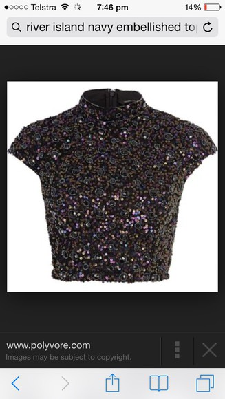 top navy sequins high neck crop river island river island, crop top, knit, camo, camoflauge , army