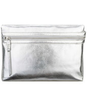 bag,pouch,silver bag,metallic bag,metallic,silver