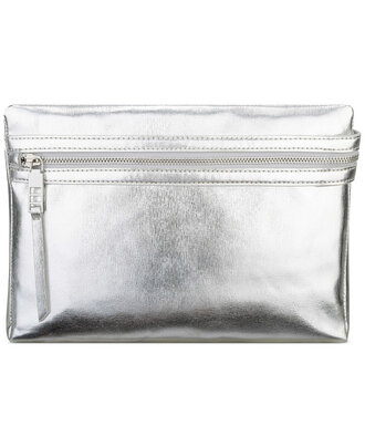 bag pouch silver bag metallic bag metallic silver