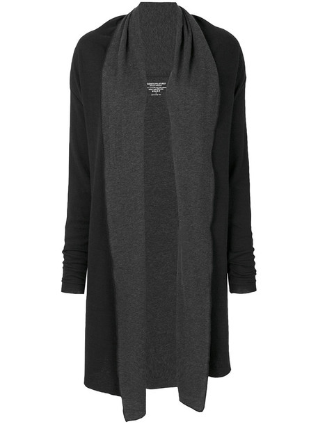 cardigan cardigan long open women cotton black sweater